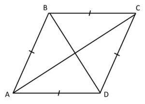 mensuration formulas rhombus